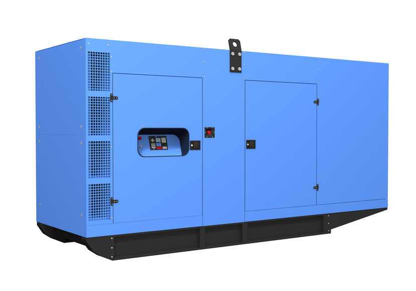 Diesel generator used for backup power for industrial applications