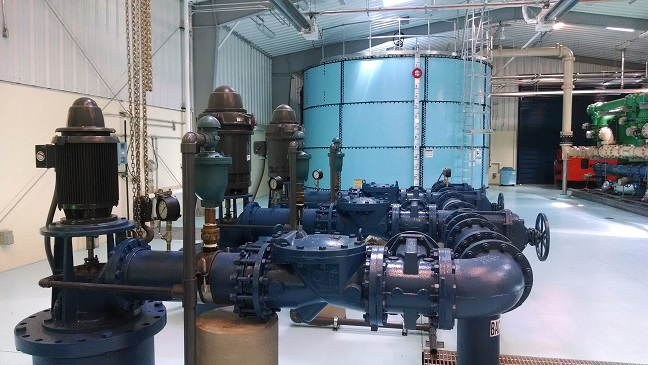 Water treatment High Service Pumps an example of an cloud based remote monitoring application for Industrial Automation