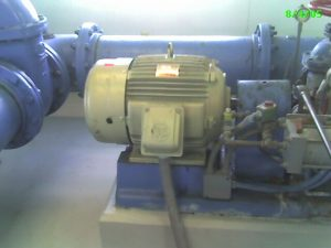 pump with electric check valve at booster station