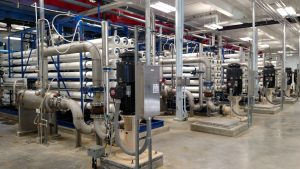 Nanofiltration system used as final treatment at Municipal Water Treatment Plant