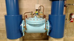 Proportional control valve used to control filter backwash flow