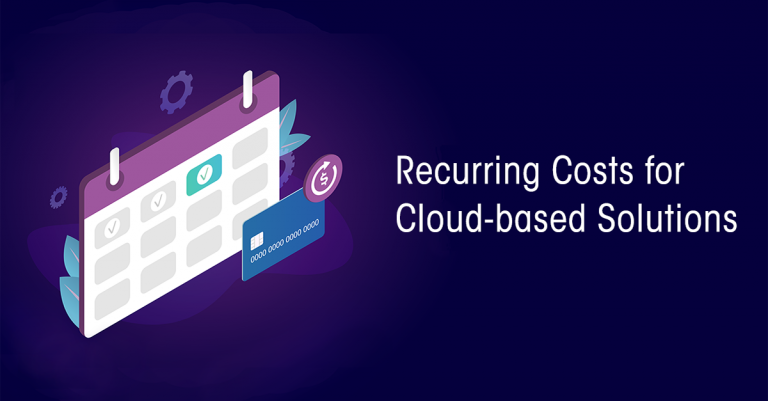 Recurring Costs for Cloud based solutions